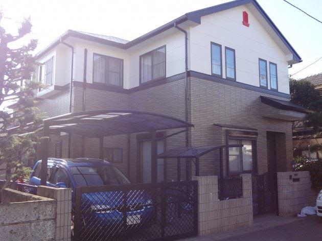 柏市 N様邸 外壁・屋根塗装 ウレタン塗料+クリヤー塗料