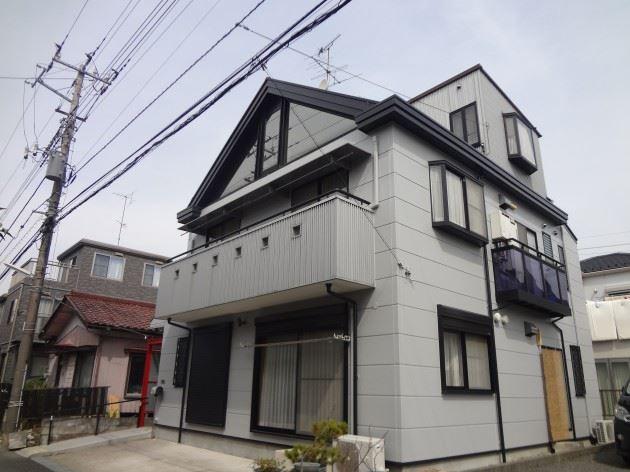 流山市 S様邸 外壁・屋根塗装工事 コスモマイルドシリコンⅡ弾性塗料