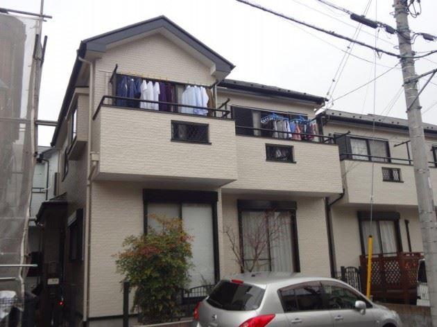 越谷市 F様邸 外壁・屋根塗装工事 コスモマイルドシリコンⅡ弾性塗料