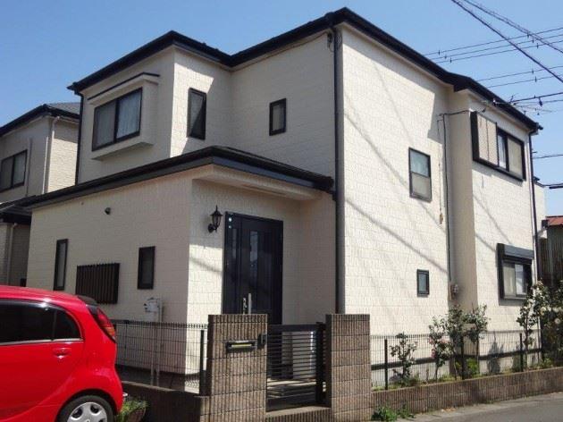 越谷市 K様邸 外壁・屋根塗装工事 コスモマイルドシリコンⅡ弾性塗料