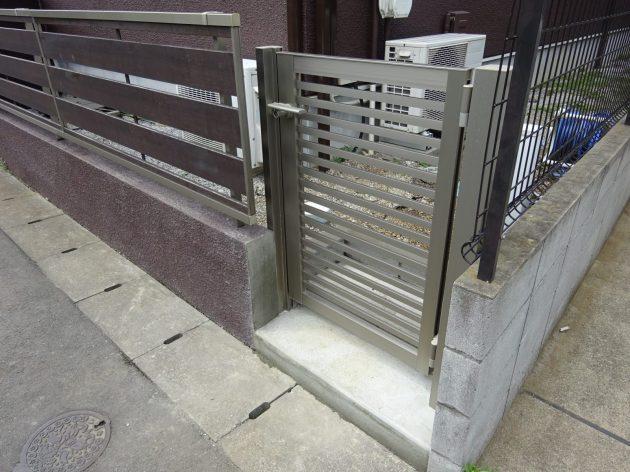 柏市 N様邸 既存フェンス加工・門扉取り付け工事